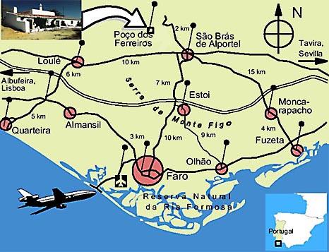 Flughafen Algarve Karte.Casa Colina Verde Anreise